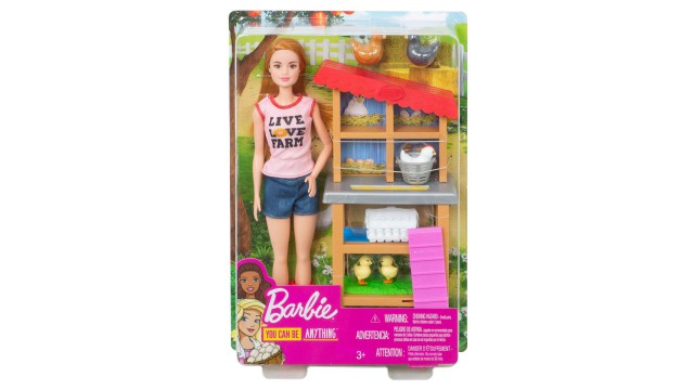 Barbie Kippenboerinpop en Speelset