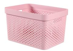 Curver infinity box dots 17L chalk pink - 100% recycled