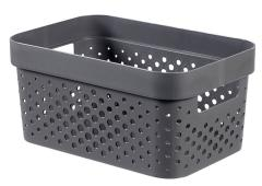 Curver infinity box dots 4,5L donker grijs - 100% recycled