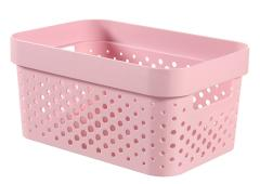 Curver infinity box dots 4,5L chalk pink - 100% recycled