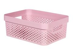 Curver infinity box dots 11L chalk pink 100% recycled