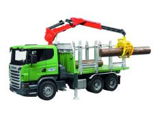 Bruder Scania R-series Timber truck with loading crane and 3