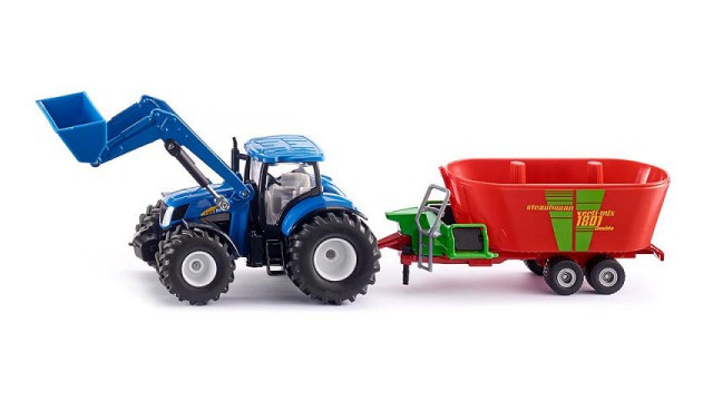 Siku Farmer New Holland met voorlader