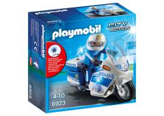 Playmobil City Action Politiemotor met LED-licht