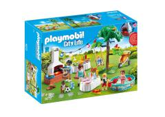 Playmobil City Life Dollhouse Familiefeest met barbeque