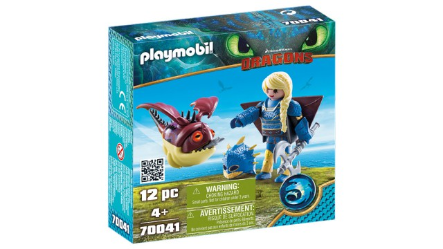 Playmobil Dragons Astrid in vliegpak en schrokop