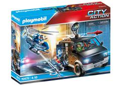 Playmobil City Action Politiehelikopter: achtervolging