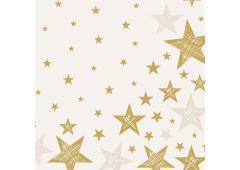 Duni servetten Shining Star Cream 33x33cm
