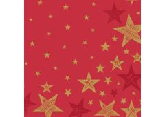 Duni servetten Shining Star Red 33x33cm