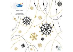 Duni servetten Snow Necklace White 33x33cm