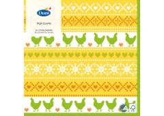 Duni servetten Easter Knit 3-laags 33x33