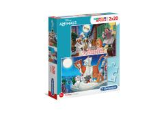 Clementoni Puzzel 2x20 stukjes Disney Animal Friends