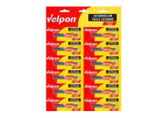 Velpon Secondelijm displaykaart 12 x 2gr