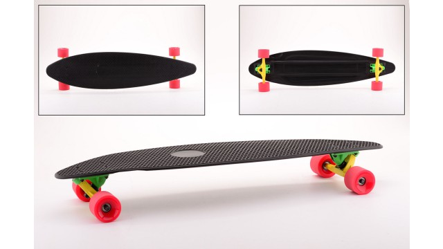 Urban District Aluminium Longboard (zwart), ABEC-7, 78A