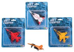 Action Fighters die-cast straaljager op kaart 4 assorti