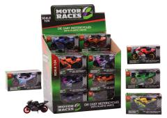 Super Bike motorset 1:24 in display 6 assorti