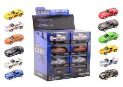 Super Cars die-cast 1:43 auto 12 assorti in display