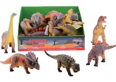 Animal World Dinosaurussen soft  26-38 cm 6 assorti