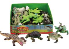Animal World reptielen soft 14-37cm 6 assorti