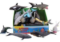 Animal World oceaan dieren soft 25 cm 6 assorti