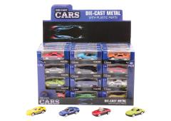 Super Cars 2.6 inch die-cast auto 12 assorti in display