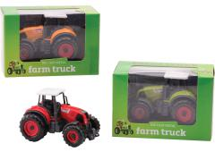 Farm Masters Die-Cast tractor pull-back 3 assorti