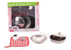 Home and Kitchen stalen pannenset 6-delig