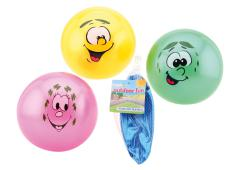 Outdoor fun speelbal smiley 85 gram 4 assorti