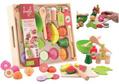 Joueco - Salade set in houten tray