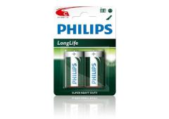 Batterij Philips Longlife R14 C-Cell bls2