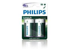 Batterij Philips Longlife R20 D-Cell 12 x bls2