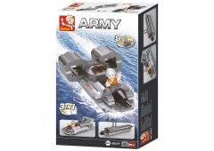 Sluban Army 9 into 1 Jetboot 3-In-1