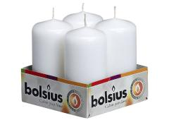 Bolsius stompkaars tray 4 st 100/50 wit 10 st.